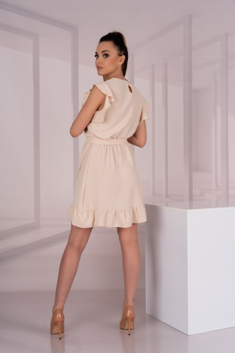 Beżowa sukienka bez rękawów