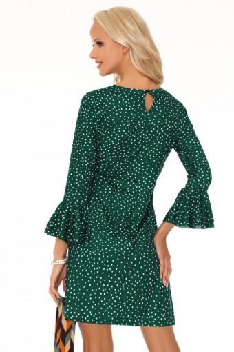 Zielona sukienka w groszki