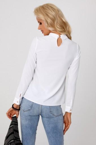 Biała bluzka z kołnierzykiem