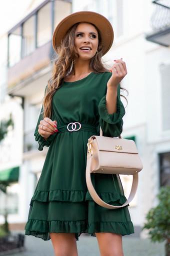 Zielona sukienka z falbankami