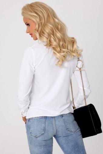Biała bluzka ze stójką