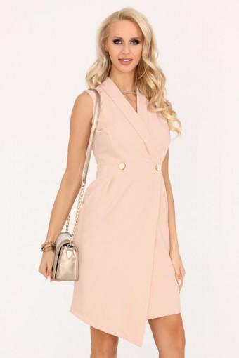 Asymetryczna sukienka kopertowa