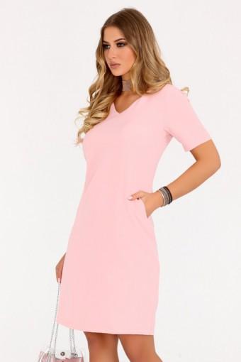 Prosta sukienka mini różowa