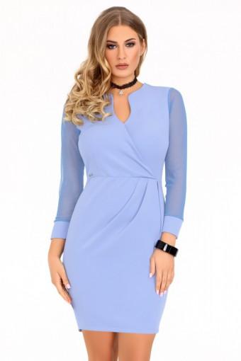 Niebieska sukienka mini