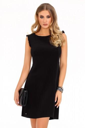 Czarna sukienka ołówkowa bez rękawów
