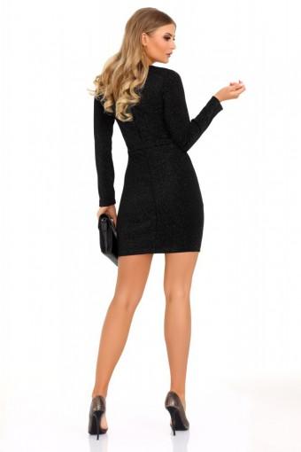 Czarna sukienka ołówkowa mini