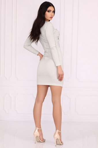Srebrna sukienka ołówkowa