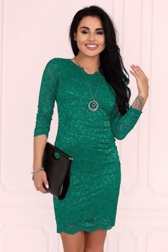 Zielona sukienka mini koronkowa