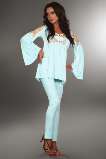 Elegancka piżama z szerokimi rękawami