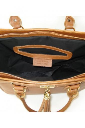 Brązowa torebka skórzana A4
