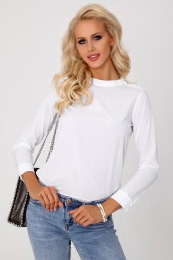 Biała bluzka gładka