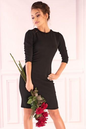 Czarna sukienka sznurowana z tyłu