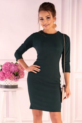 Zielona sukienka sznurowana z tyłu