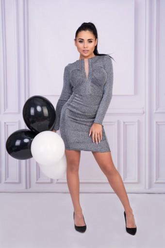 Szara sukienka ołówkowa mini
