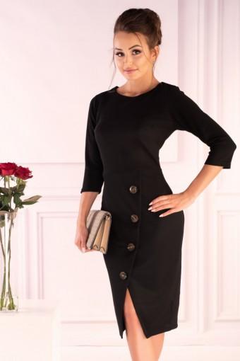 Czarna sukienka ołówkowa midi