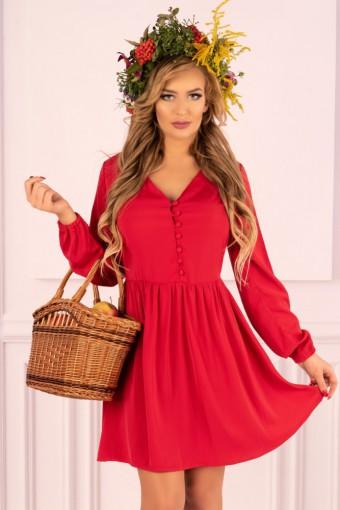 Czerwona sukienka rozkloszowana mini