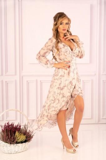 Zwiewna sukienka asymetryczna