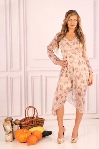 Zwiewna sukienka midi