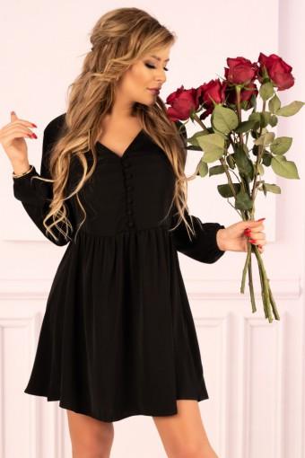 Czarna sukienka rozkloszowana mini