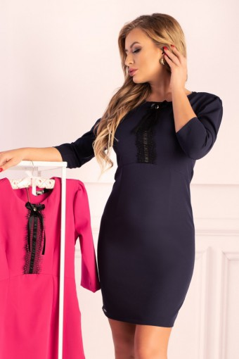 Granatowa sukienka ołówkowa mini