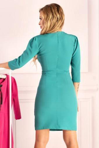 Turkusowa sukienka ołówkowa mini